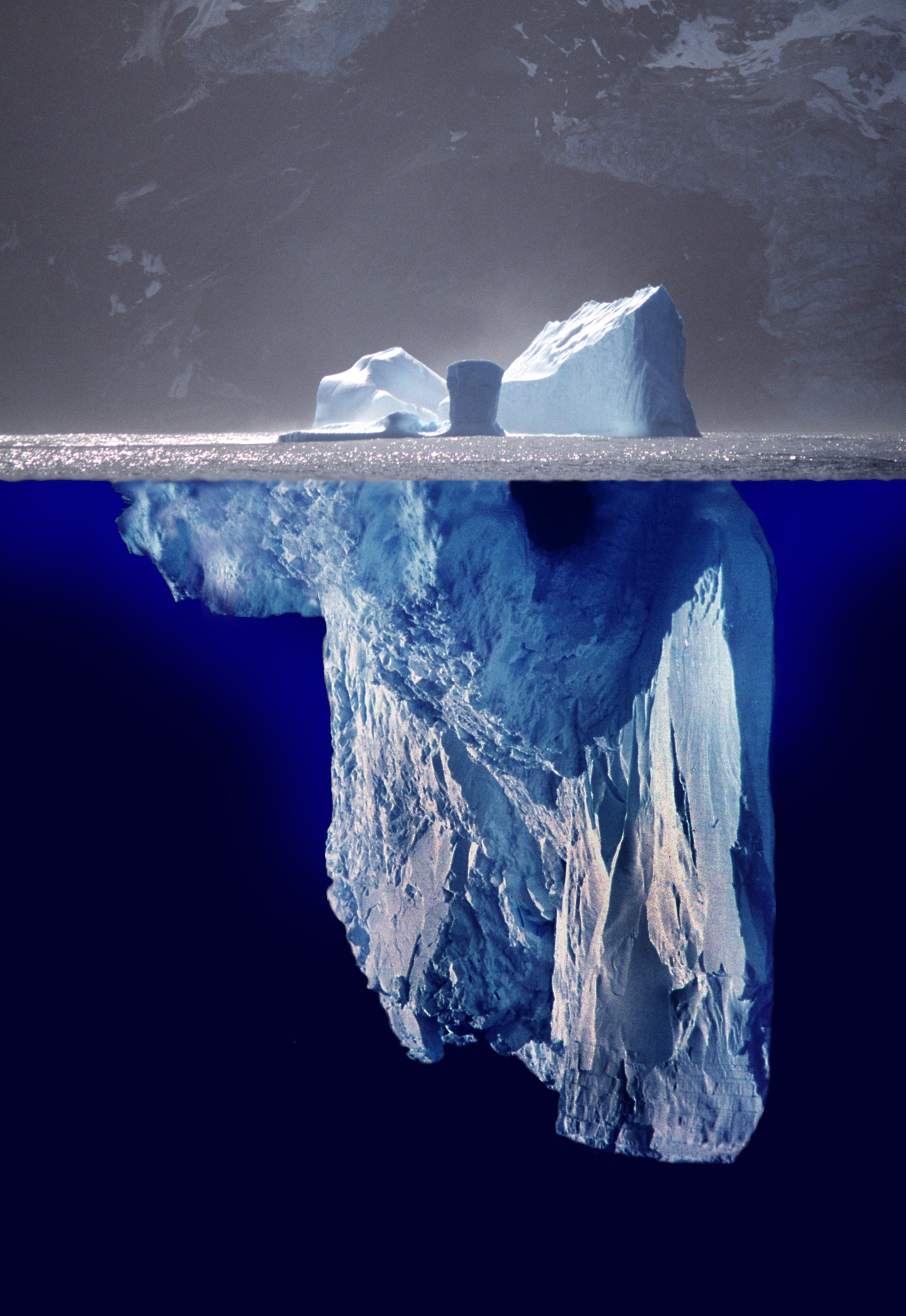 Photomontage showing what a complete iceberg m...