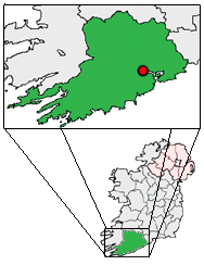 Location map of Cork City.
