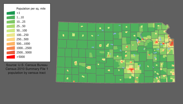 Kansas population map.png