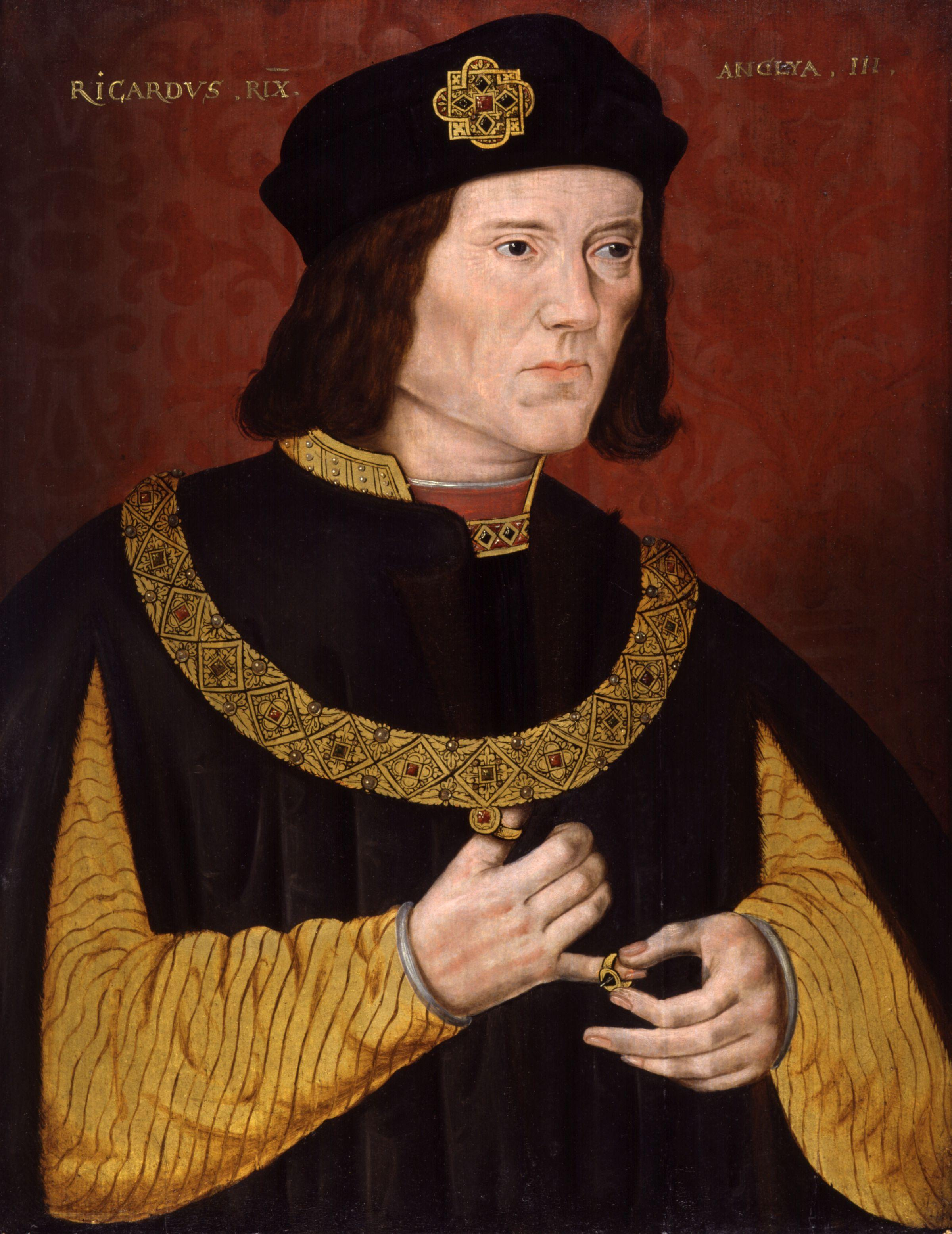 King Richard III, portrait by unknown artist, hung in National Portrait Gallery