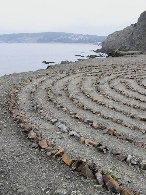 picture of land's end labyrinth for travel article