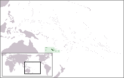 Location of Kalẹdóníà Tuntun