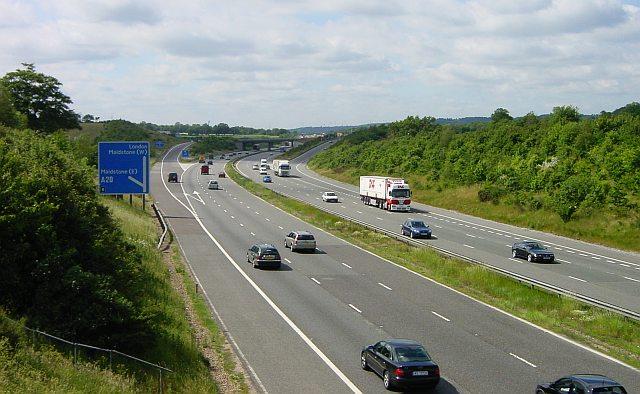 File:M20 Junction 8 - Hollingbourne - geograph.org.uk - 19684.jpg