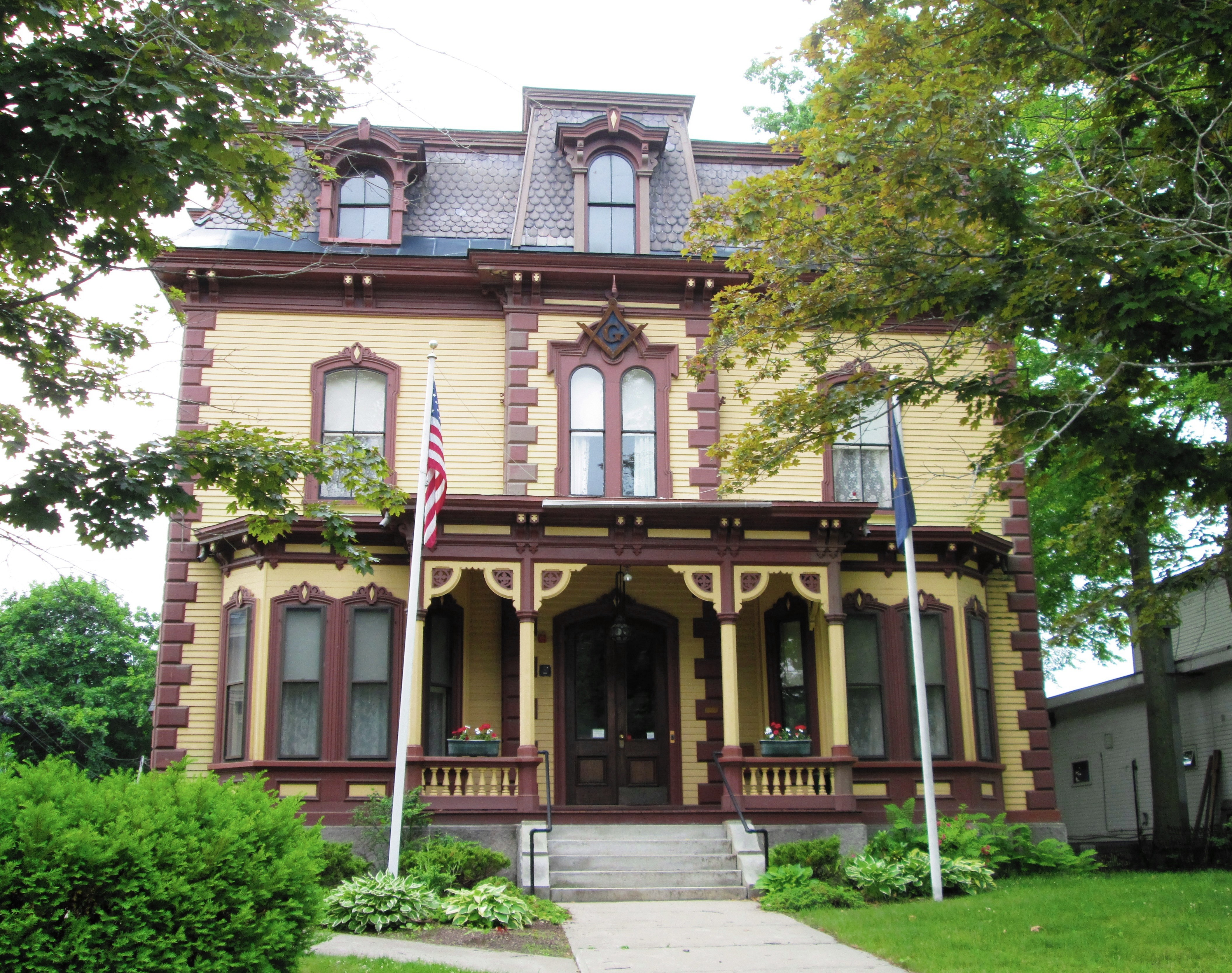 The Bellows Falls Masonic Temple Formerly Wyman Almira Flint House Was Built C 1870 In Second Empire Style