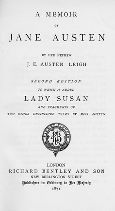 Title page from the second edition of A Memoir...