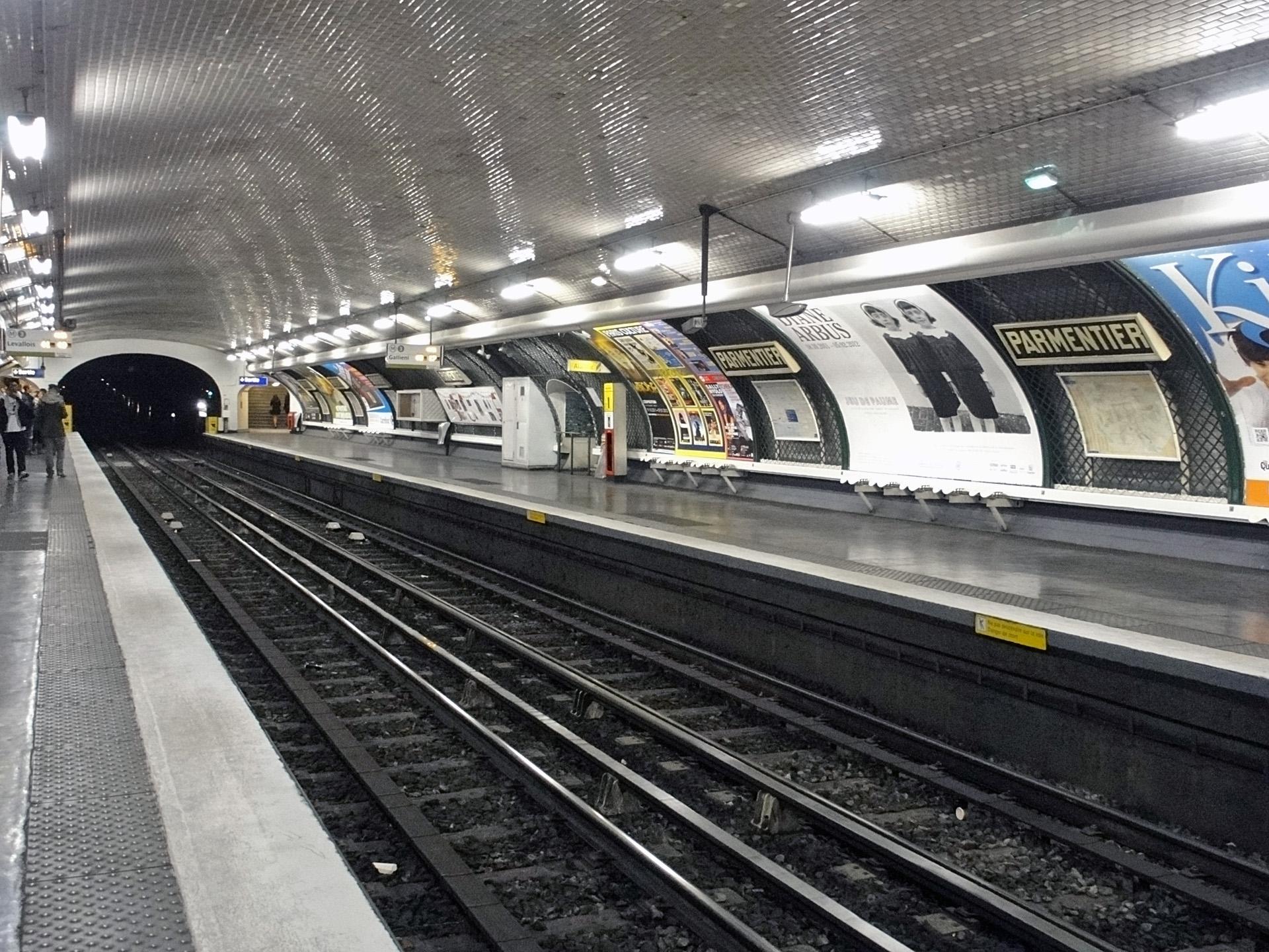 Métro Parmentier ligne 3