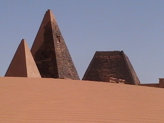 Nubian pyramids at Meroe