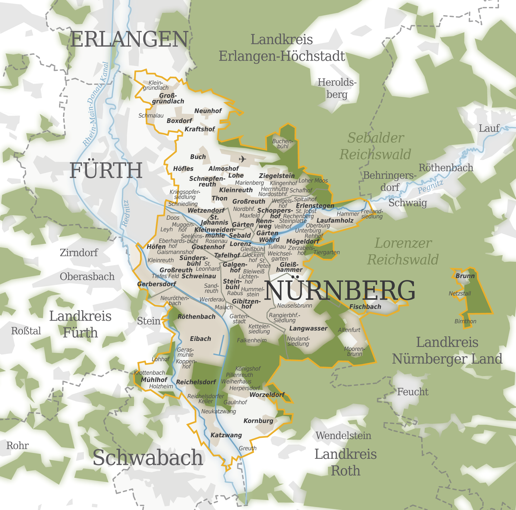 Nuremberg Germany Map – Nuremberg Tourist Map