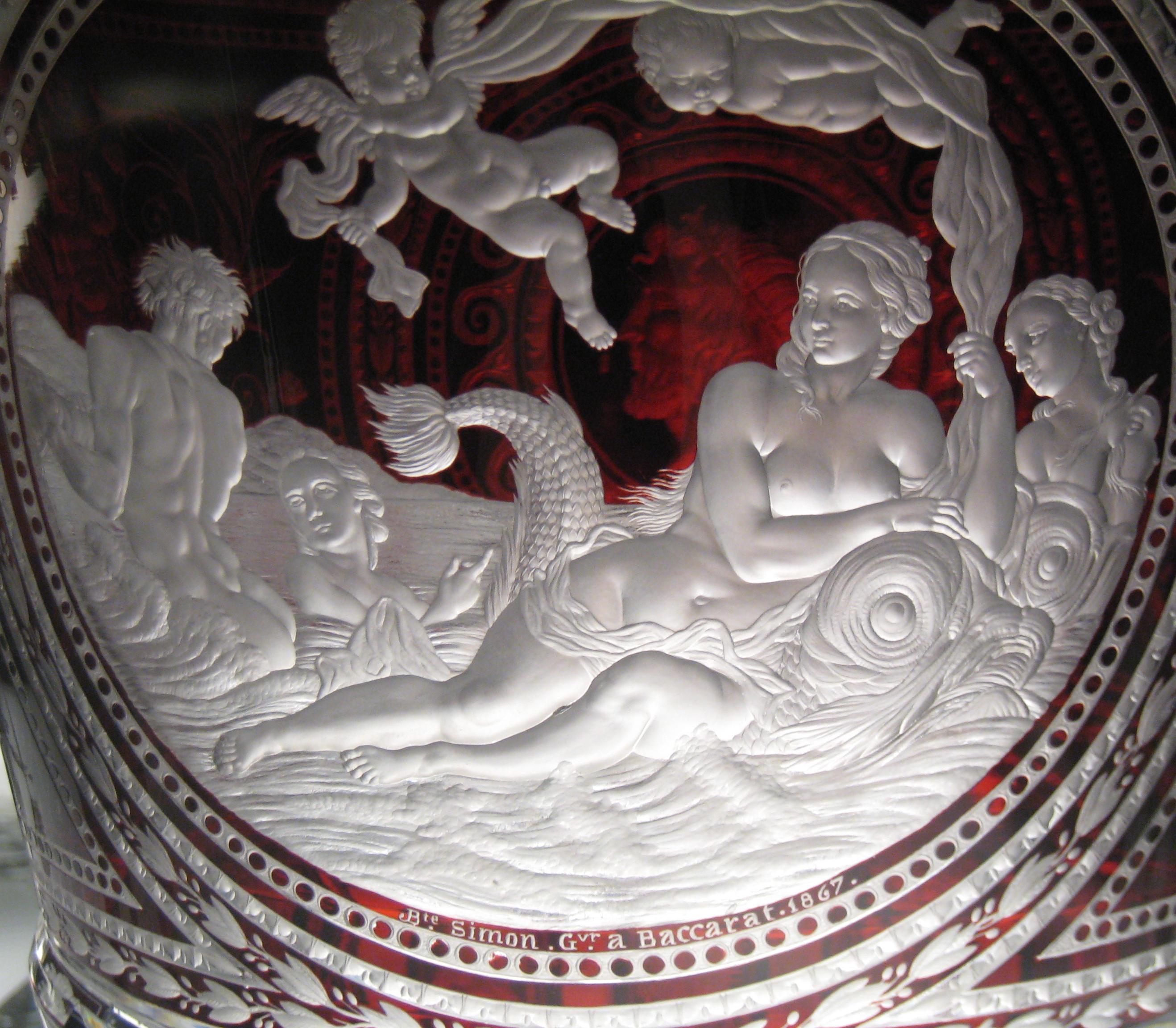 File objet en cristal musee baccarat wikipedia - Cristal de baccarat ancien ...