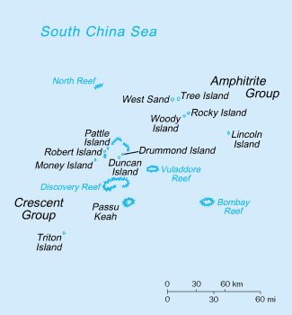 English: Paracel Island map Source: Adapted fr...