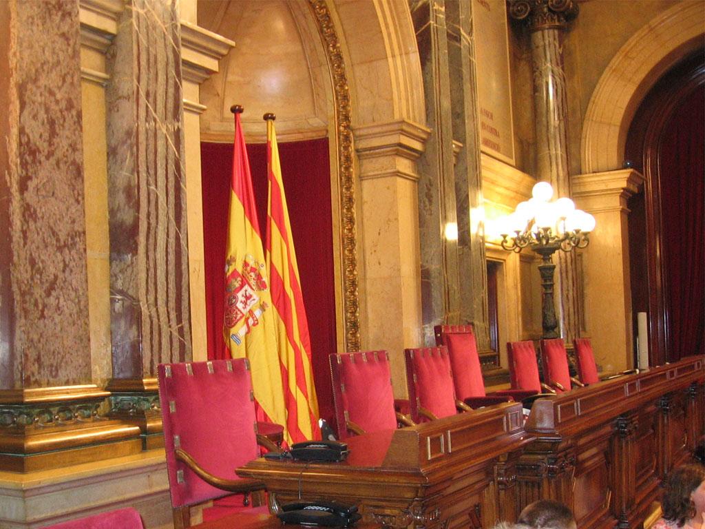 Mesa del parlament de catalunya viquip dia l for Mesa parlament