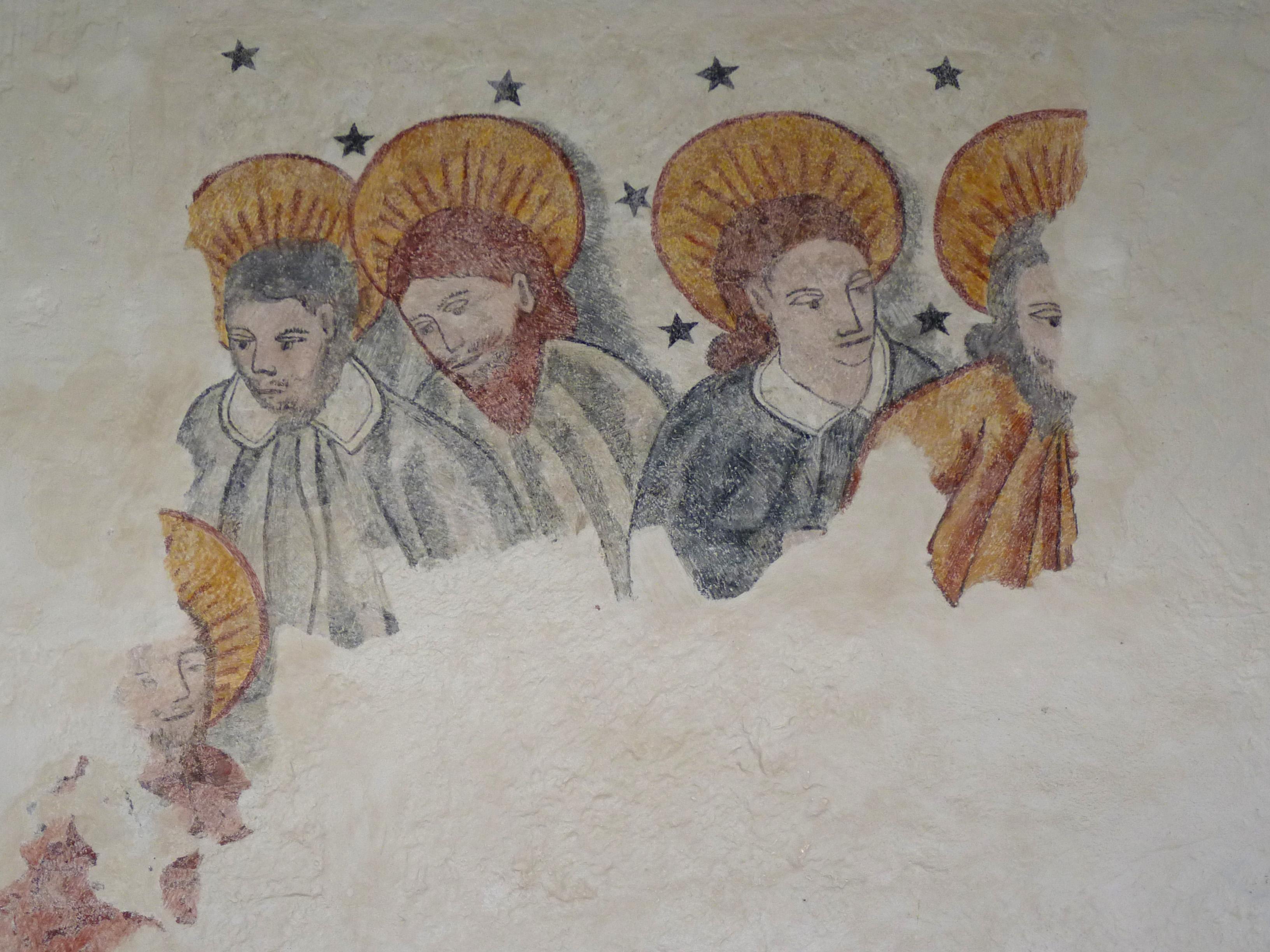 Description Peinture murale Église Saint-Jean-Baptiste de Larbey.jpg