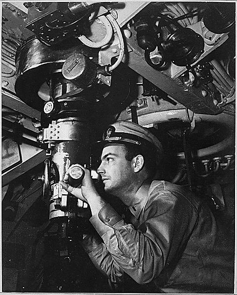 Periskop auf einem U-Boot (um 1942)
