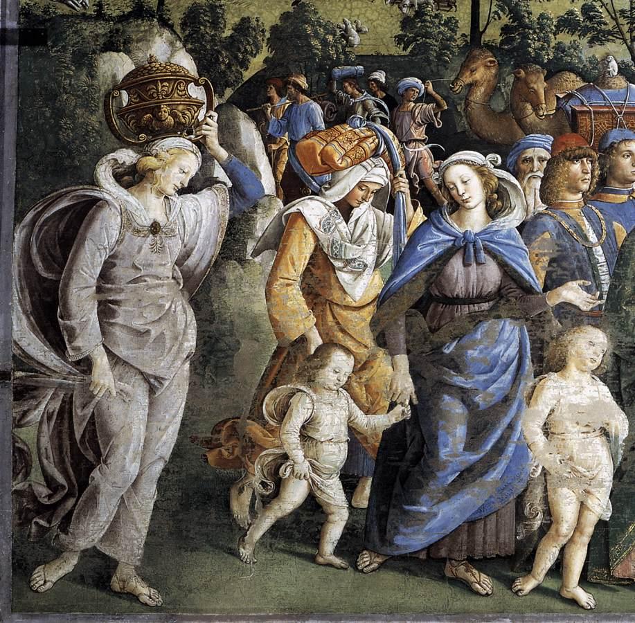 Pietro Perugino, Viaggio di Mosè e circoncisione del suo secondo figlio, 1481--1483