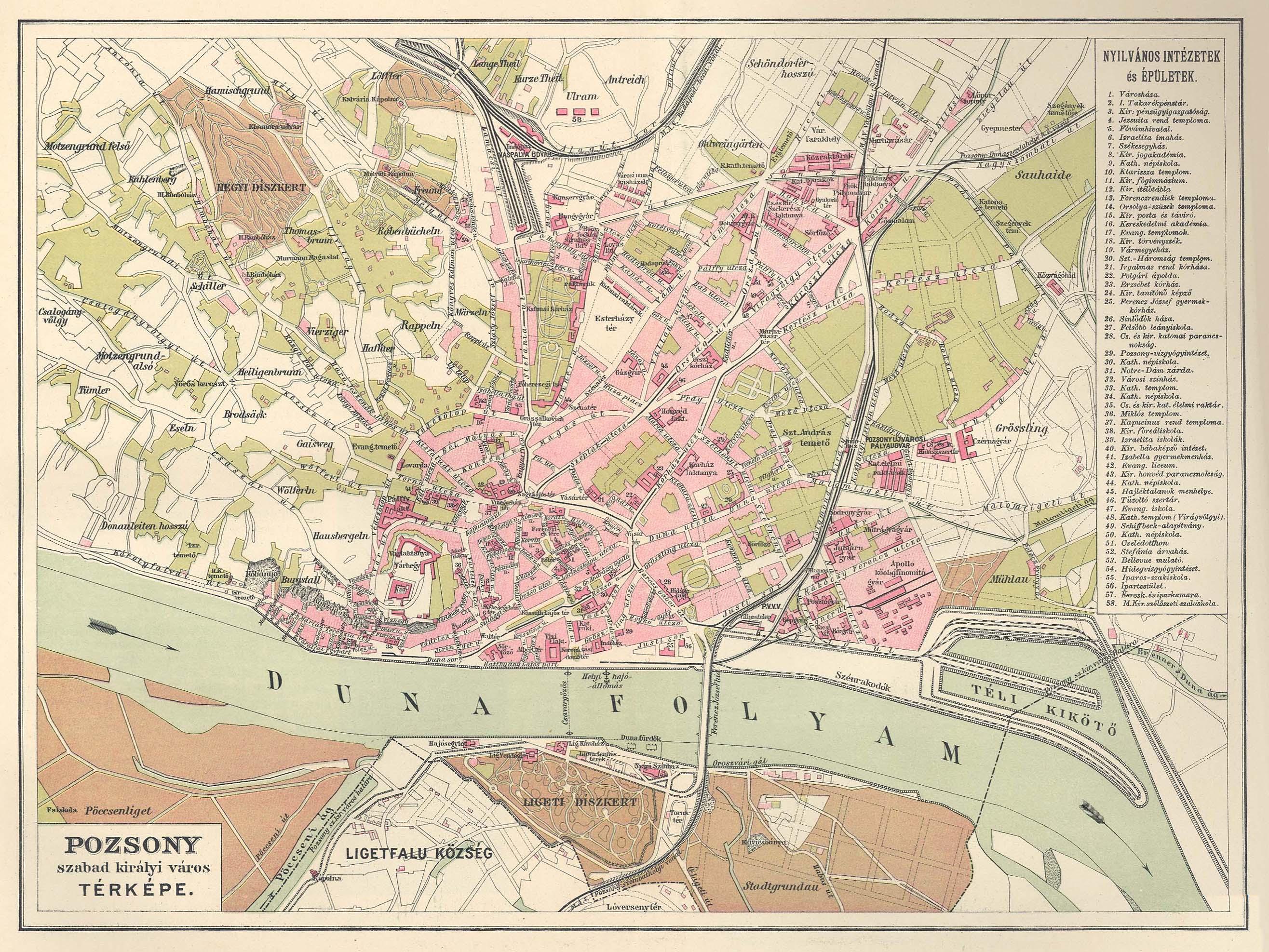 pozsony térkép File:Pozsony 1910.   Wikimedia Commons pozsony térkép