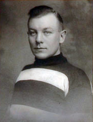 Man in hockey sweater