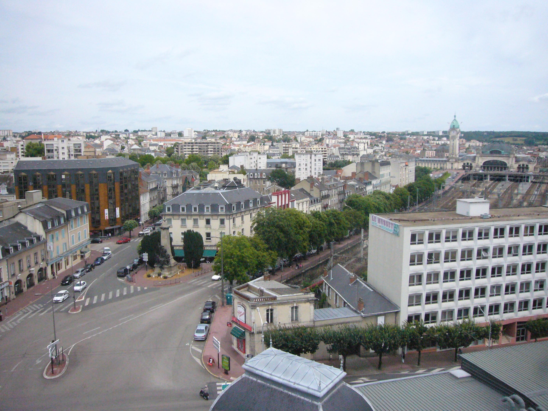 File quartier de la gare depuis le toit de la cci wikimedia commons - Jardin mediterraneen limoges ...