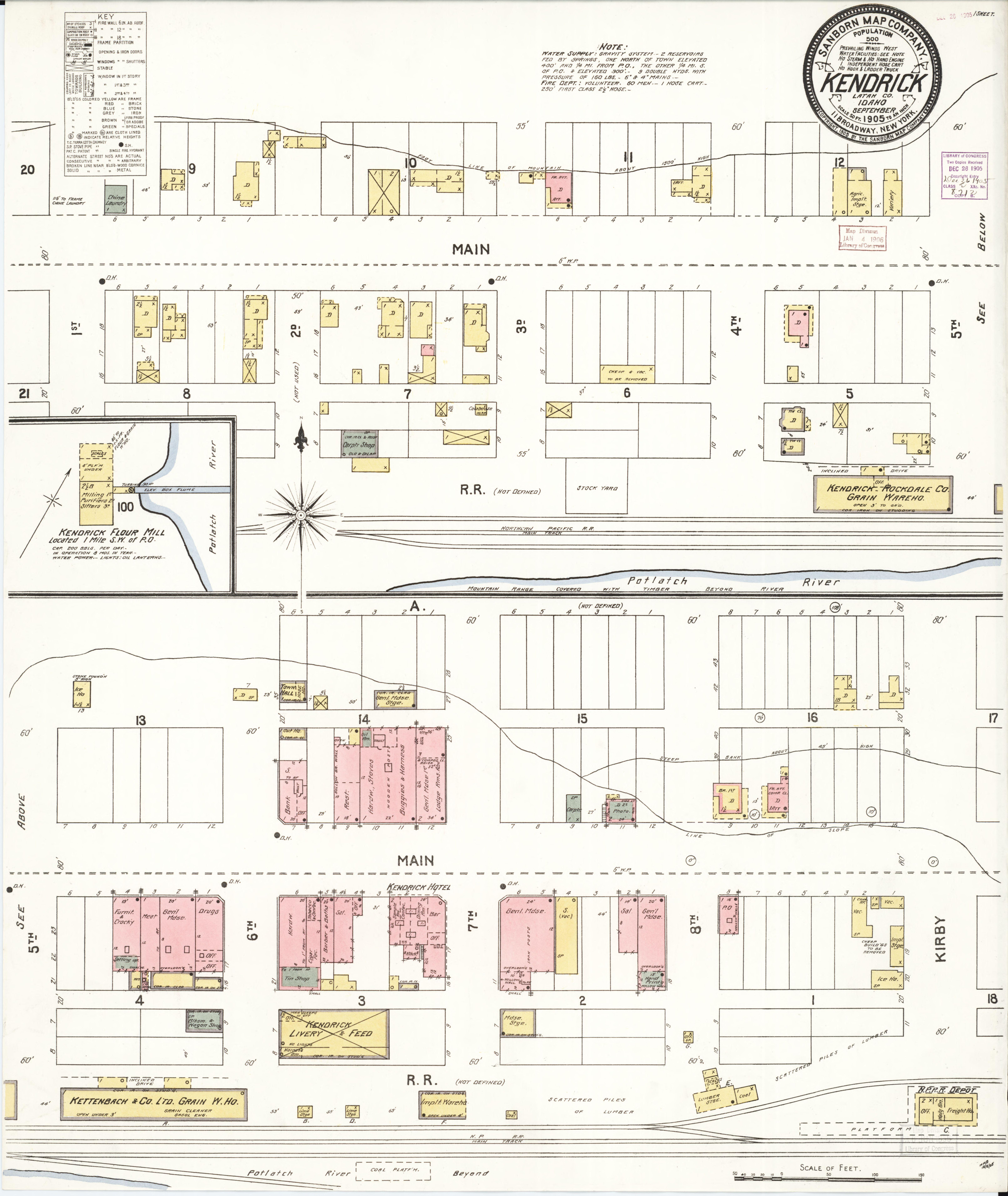 Kendrick Idaho Map.File Sanborn Fire Insurance Map From Kendrick Latah County Idaho