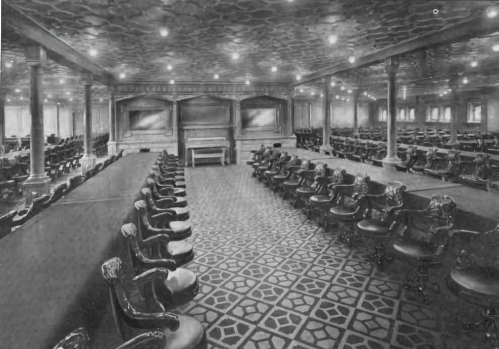 Le jeu des images - Page 3 Second_class_dining_room_on_RMS_Olympic