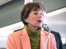 Senator Boxer holds a press conference at LAX on the Aviation Security Act. (January 18, 2002).jpg