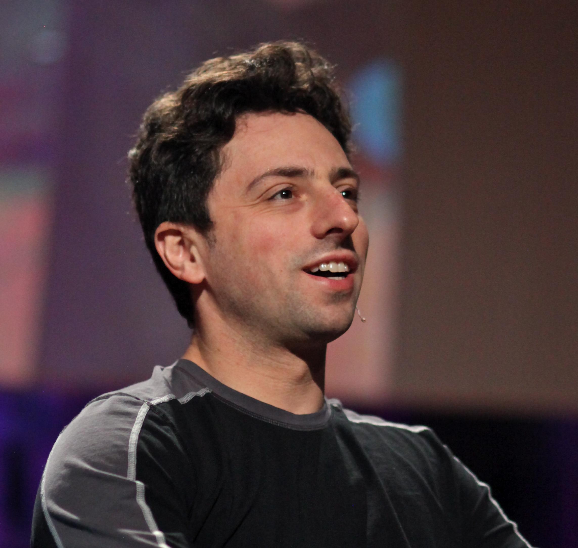 Sergey Brin  - 2021 Regular brown hair & edgy hair style.
