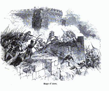 عكا... حطمت حملة نابليون على اسوارها!!  Siege_of_Acre._Charles_Knight,_The_popular_history_of_England._P._377