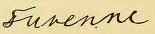 Signature Henri de La Tour d'Auvergne, vicomte de Turenne.PNG