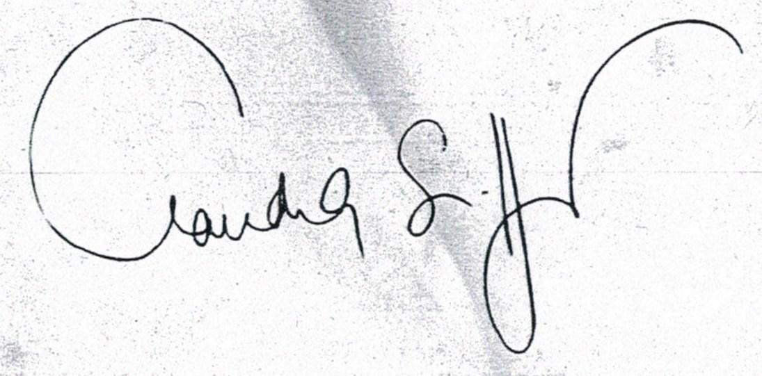 Claudia Schiffer signature