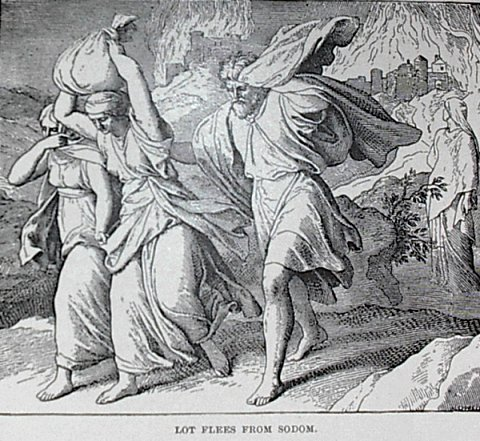 """Charles Foster's """"Lot Flees From Sodom"""""""