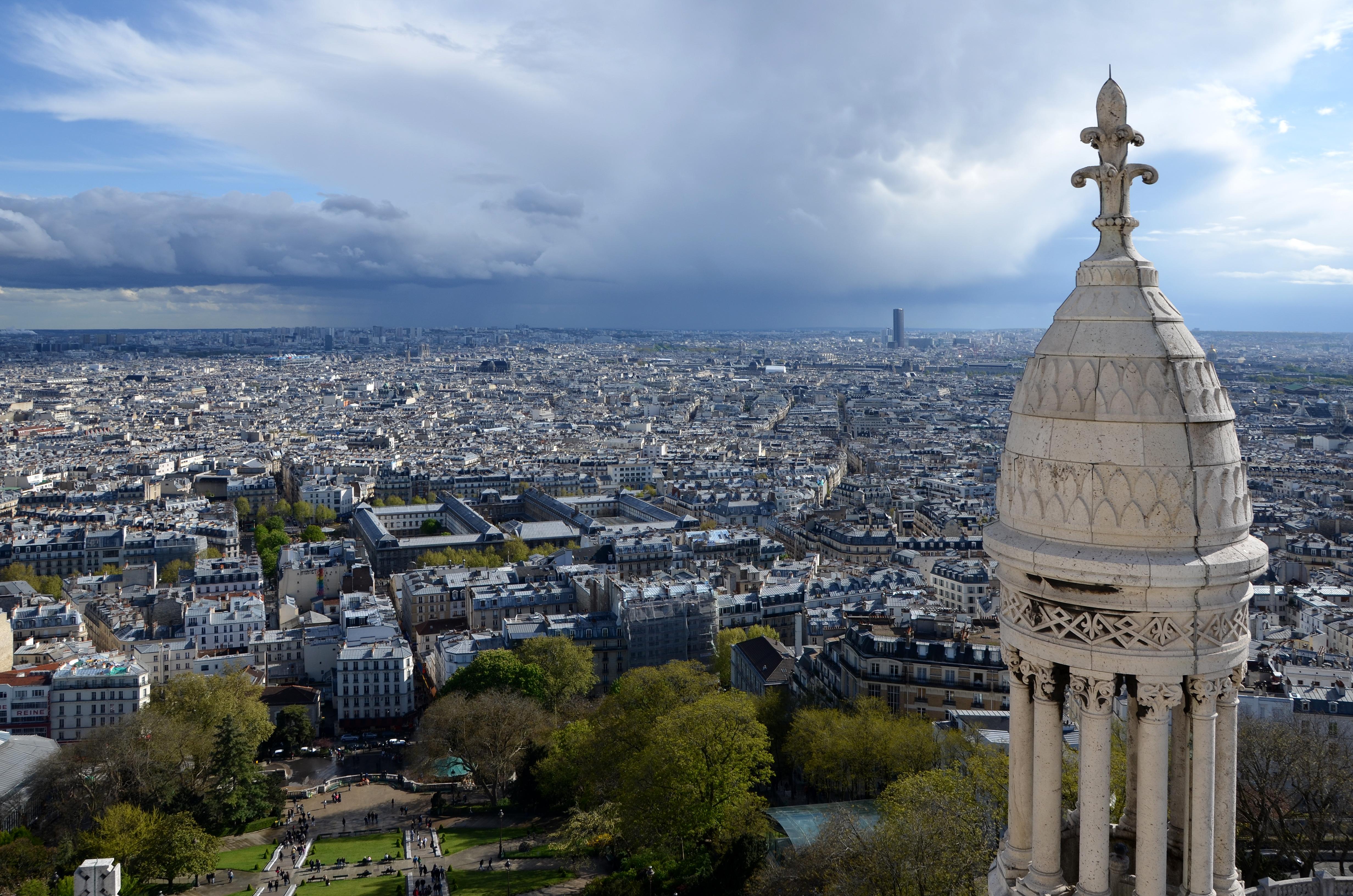 File sud de paris vu depuis le d me du sacr c wikimedia commons - Les encombrants de paris ...