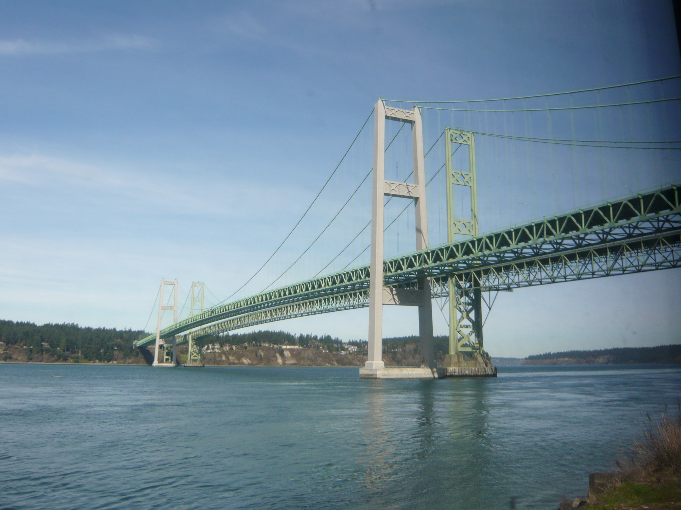 Tacoma To Portland >> File Tacoma Narrows Bridge Seattle To Portland By Train Jpg
