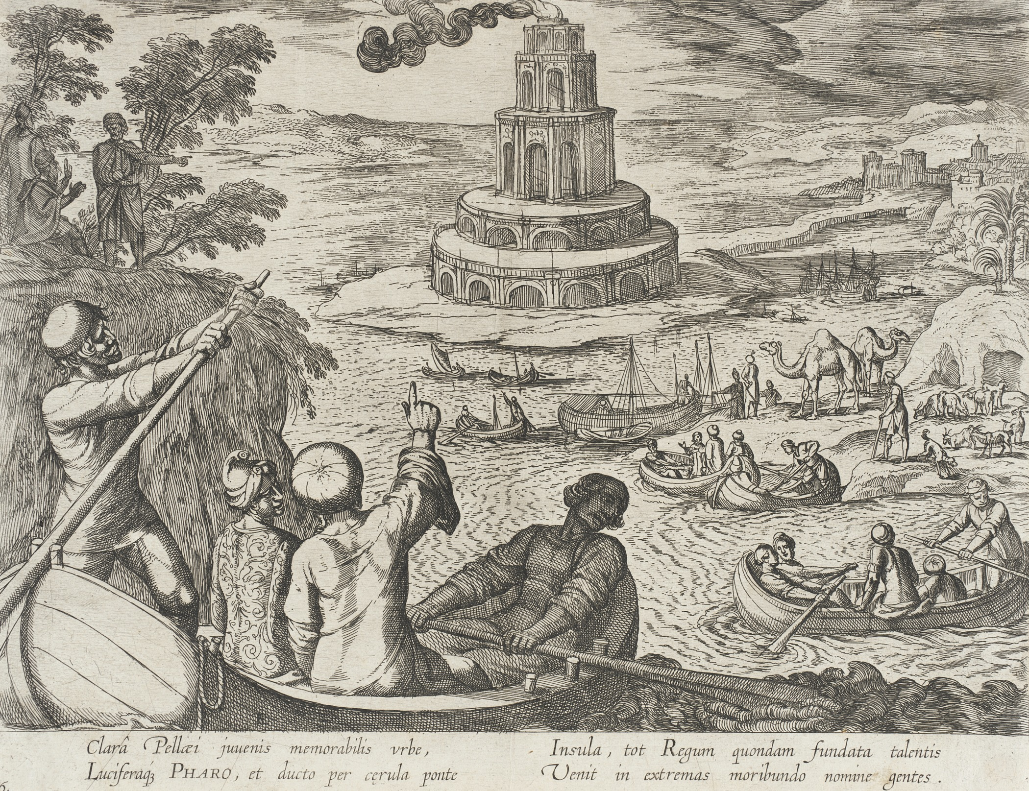 Etching published in Italy, 1610