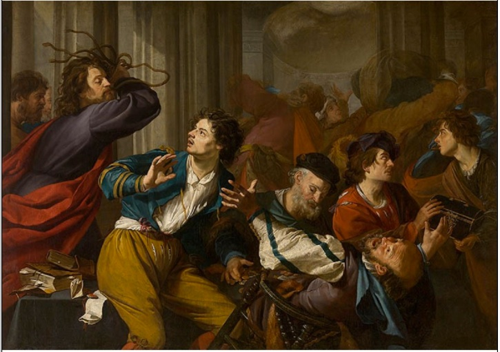 Theodoor Rombouts - Christ Driving the Money-changers from the Temple