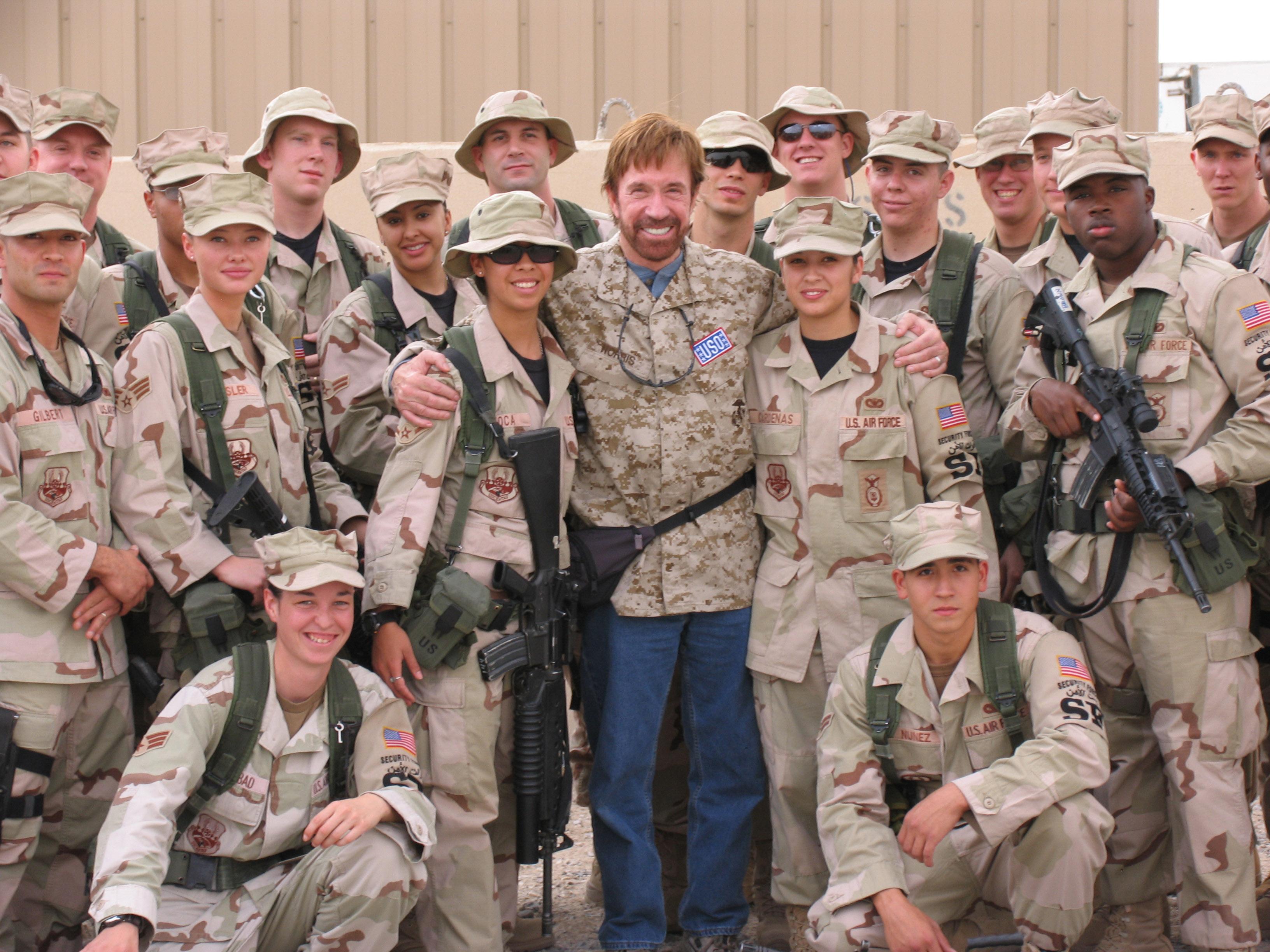 Chuck Norris Famous Veteran