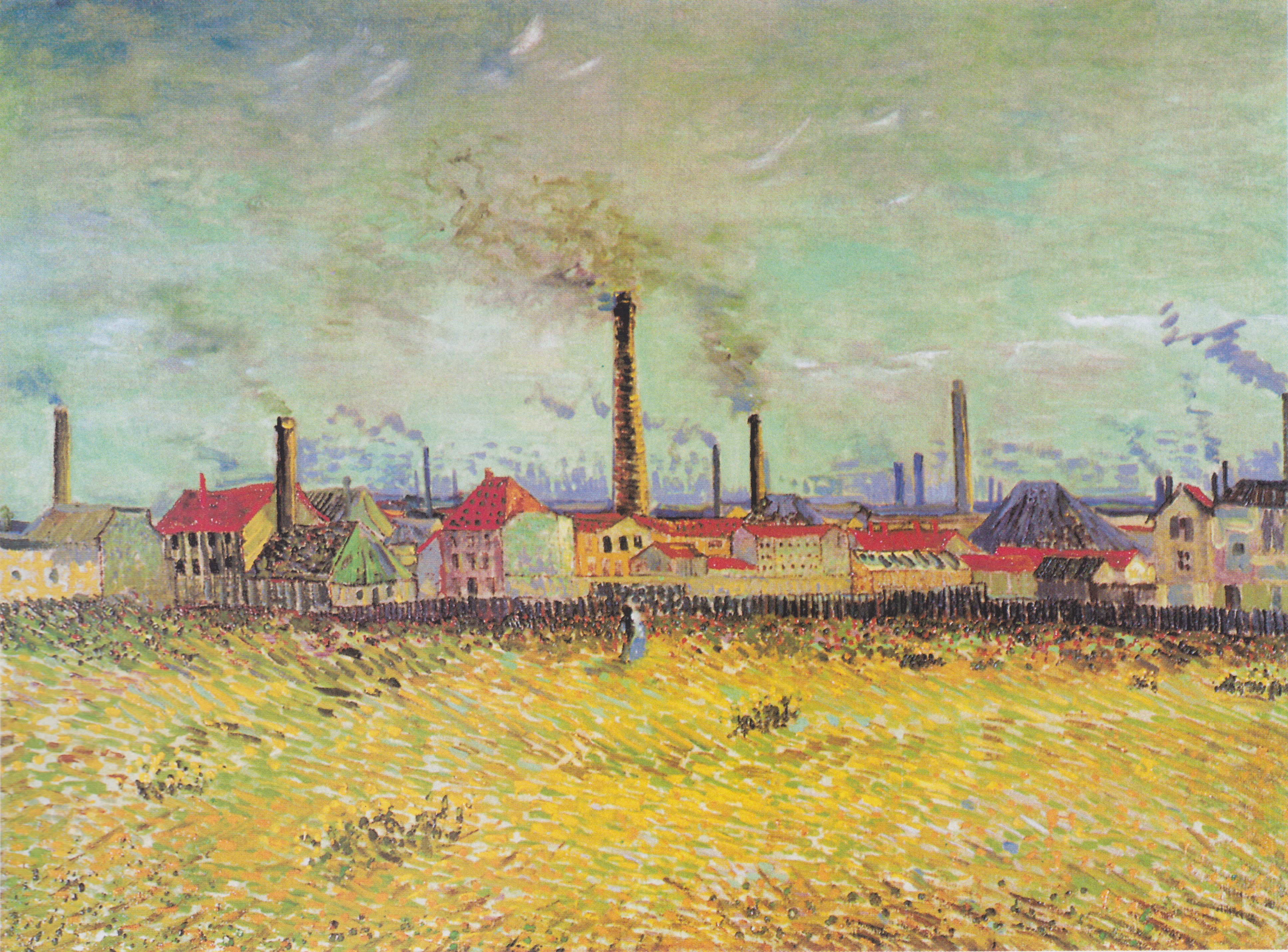 Factories at Asnieres, seen from the Quai de Clichy, Painting by Vincent Van Gogh, 1887