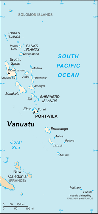 Map Of Vanuatu Vanuatu   Wikipedia