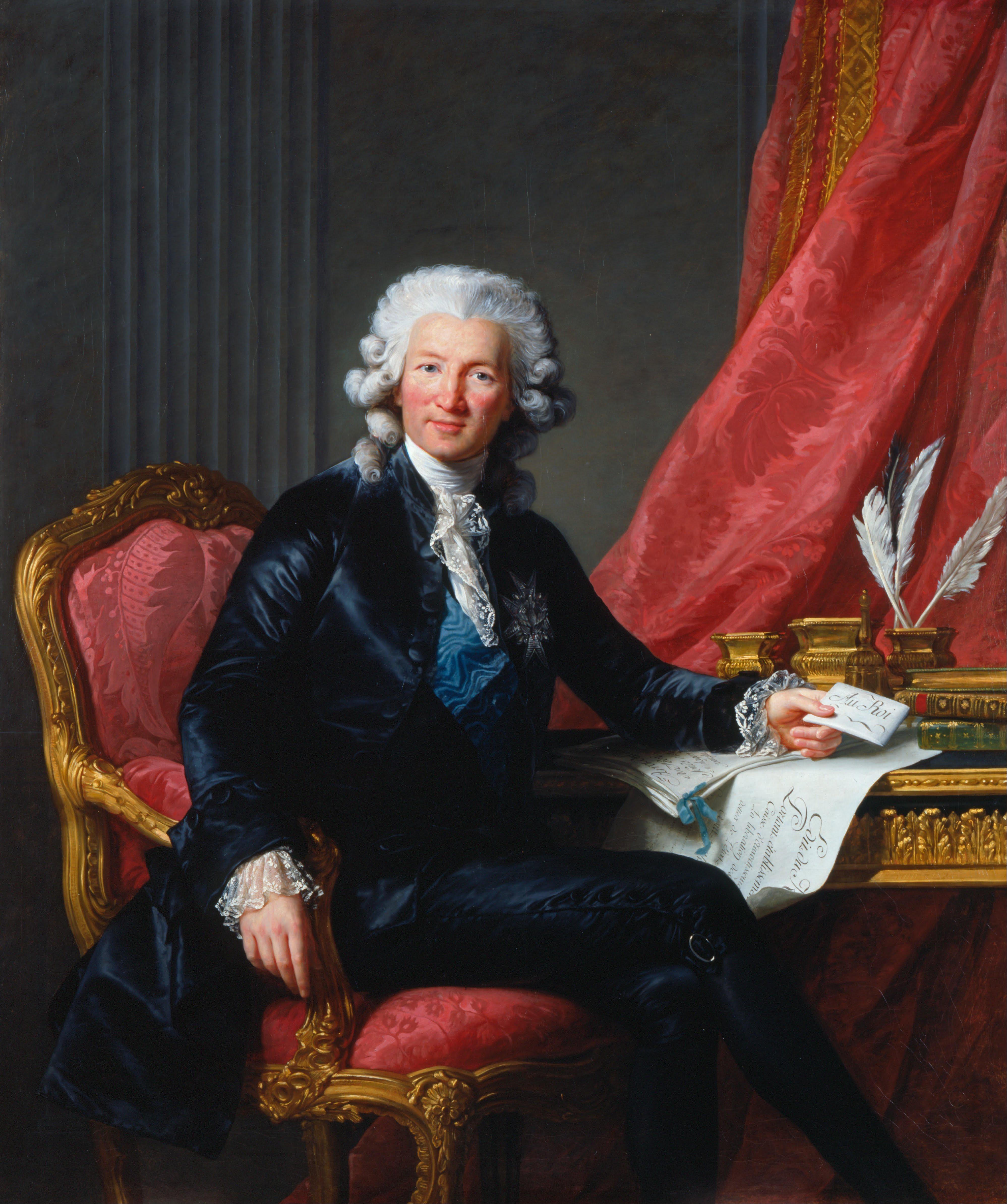 Portrait of Calonne by [[Élisabeth-Louise Vigée-Le Brun]] (1784, [[Royal Collection]])