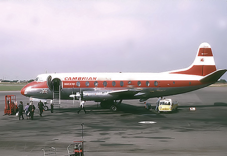 Viscount701 CambrianAirways Bristol