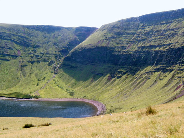 Waun Lefrith and the western end of Llyn y Fan Fach - geograph.org.uk - 541954