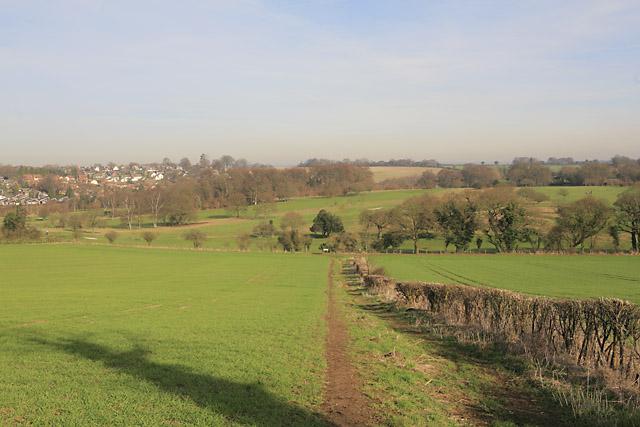 Wayfarer's Walk descends towards Alresford Golf Course - geograph.org.uk - 329330