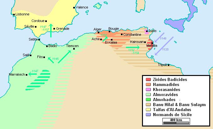 File:Zirides et Hammadides après les invasion hilaliennes.PNG