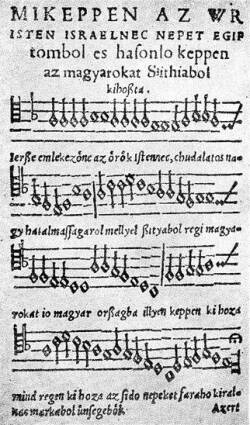 Song by András Farkas from the 1533 Hofgreff Songbook