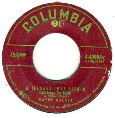 Columbia used this label for its 45 r.p.m. records from 1951 until 1958. ATeenageLoveAffair.JPG