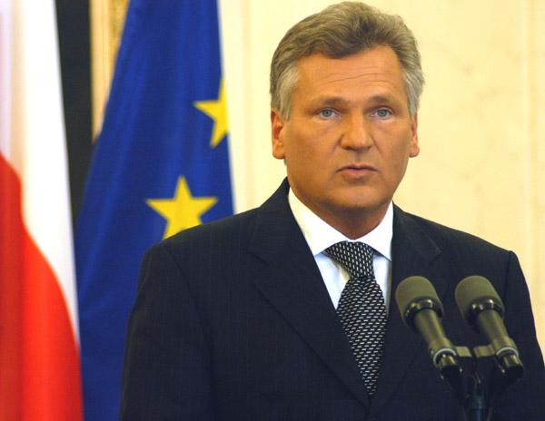 Former President of Poland Aleksander Kwaśniew...