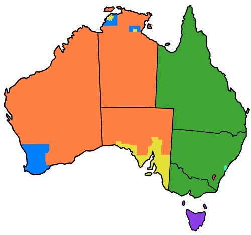 Australia Land Map.Lands Administrative Divisions Of Australia Wikipedia