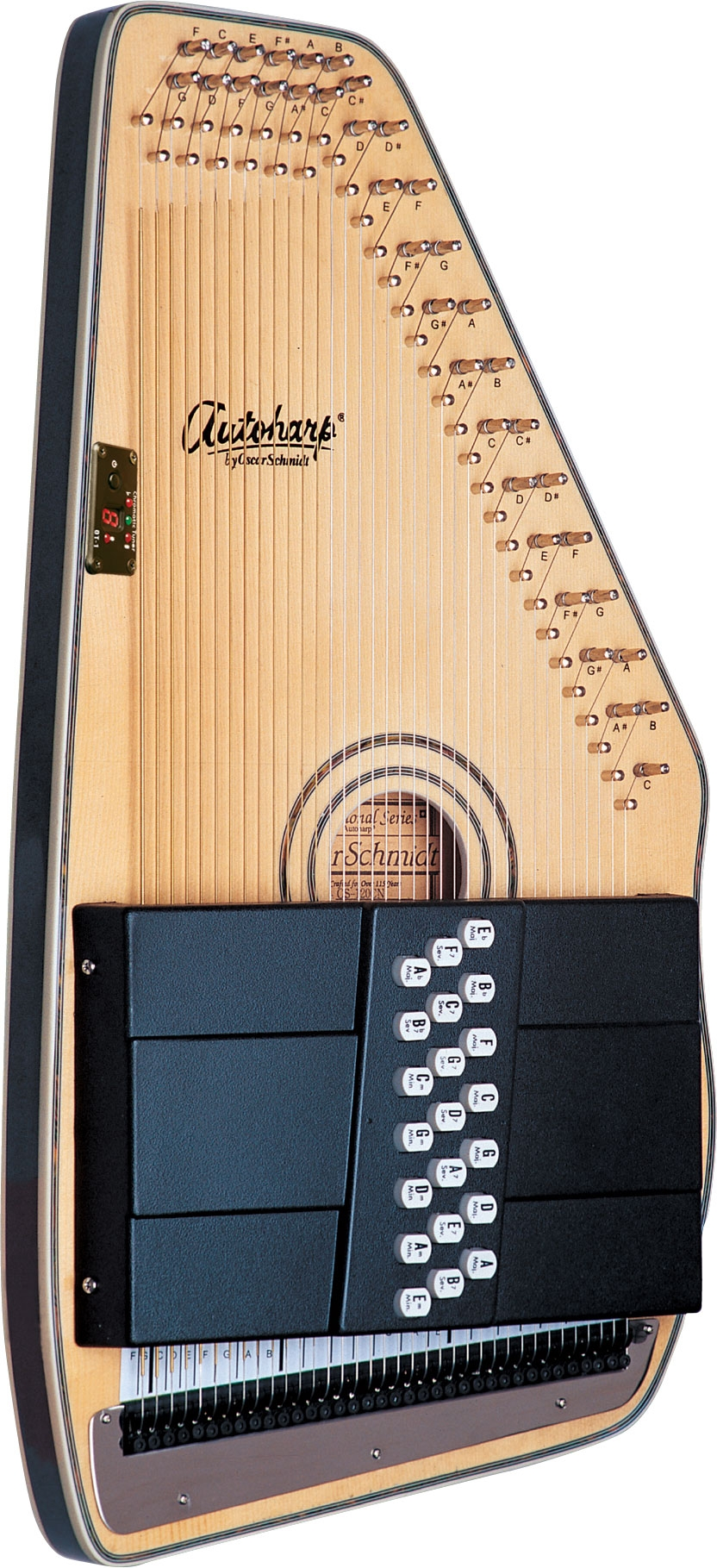 picture about Free Printable Lap Harp Music Cards called Autoharp - Wikipedia