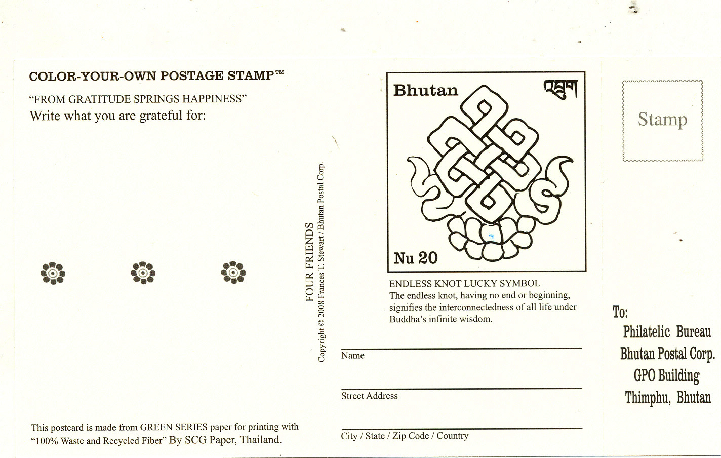 Postage stamps and postal history of bhutan wiki for Post office design your own stamps