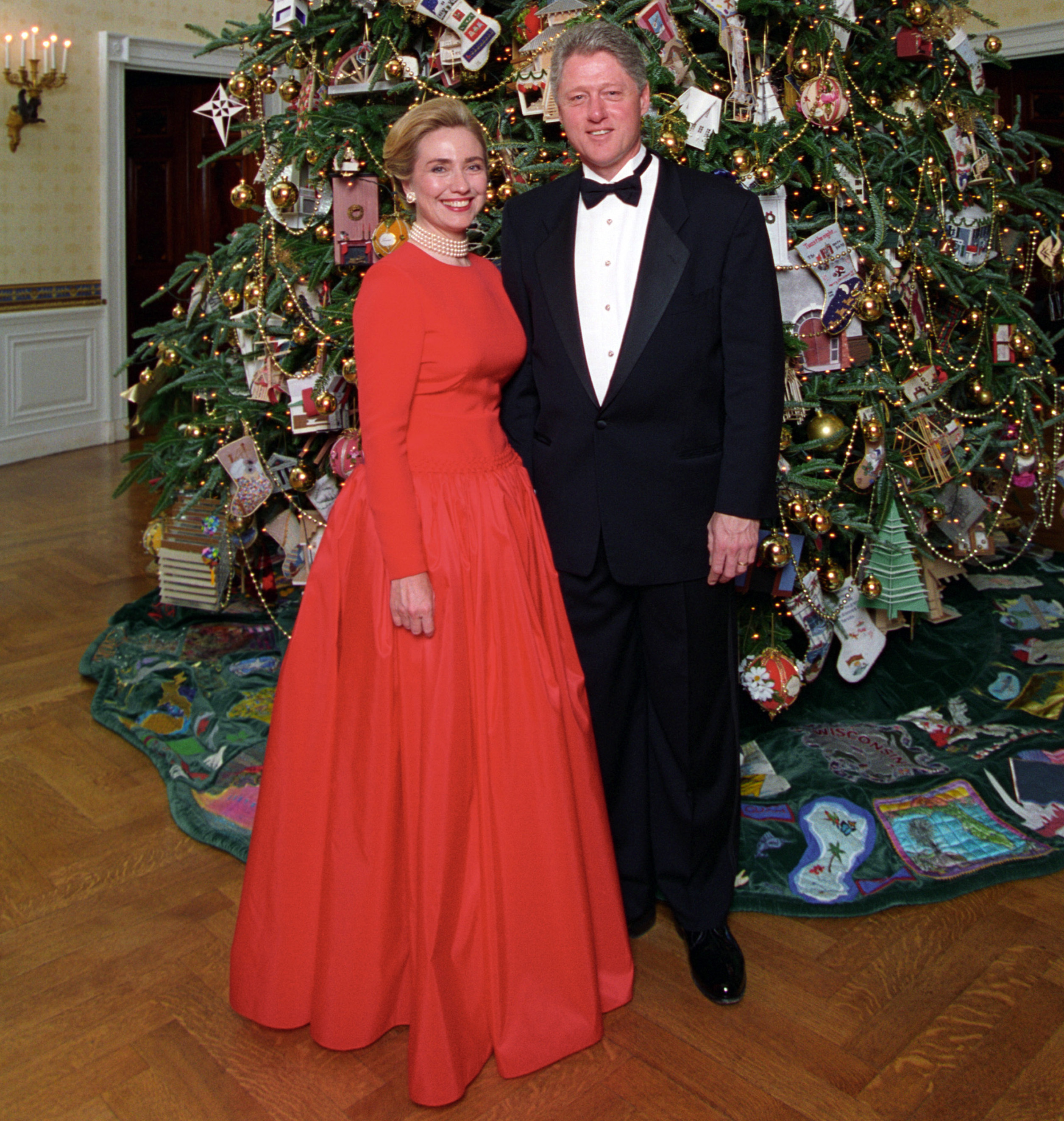 Bill clinton and hillary clinton pictures in dresses