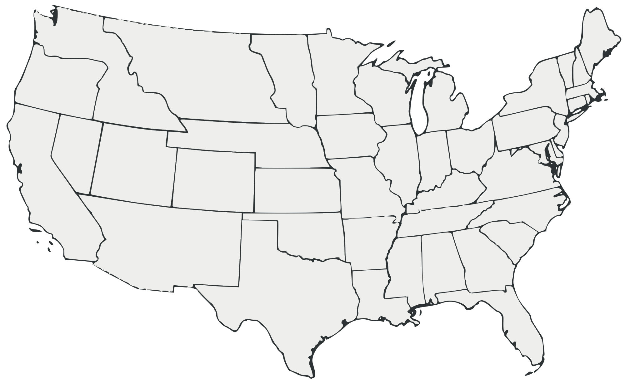 Blank Us Map Png Globalinterco - West us blank map