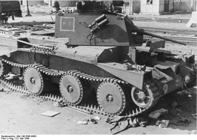 Bundesarchiv. Mk.II destroyed at Calais
